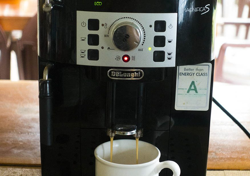 Magnifica coffe machine at blue abyss restaurant