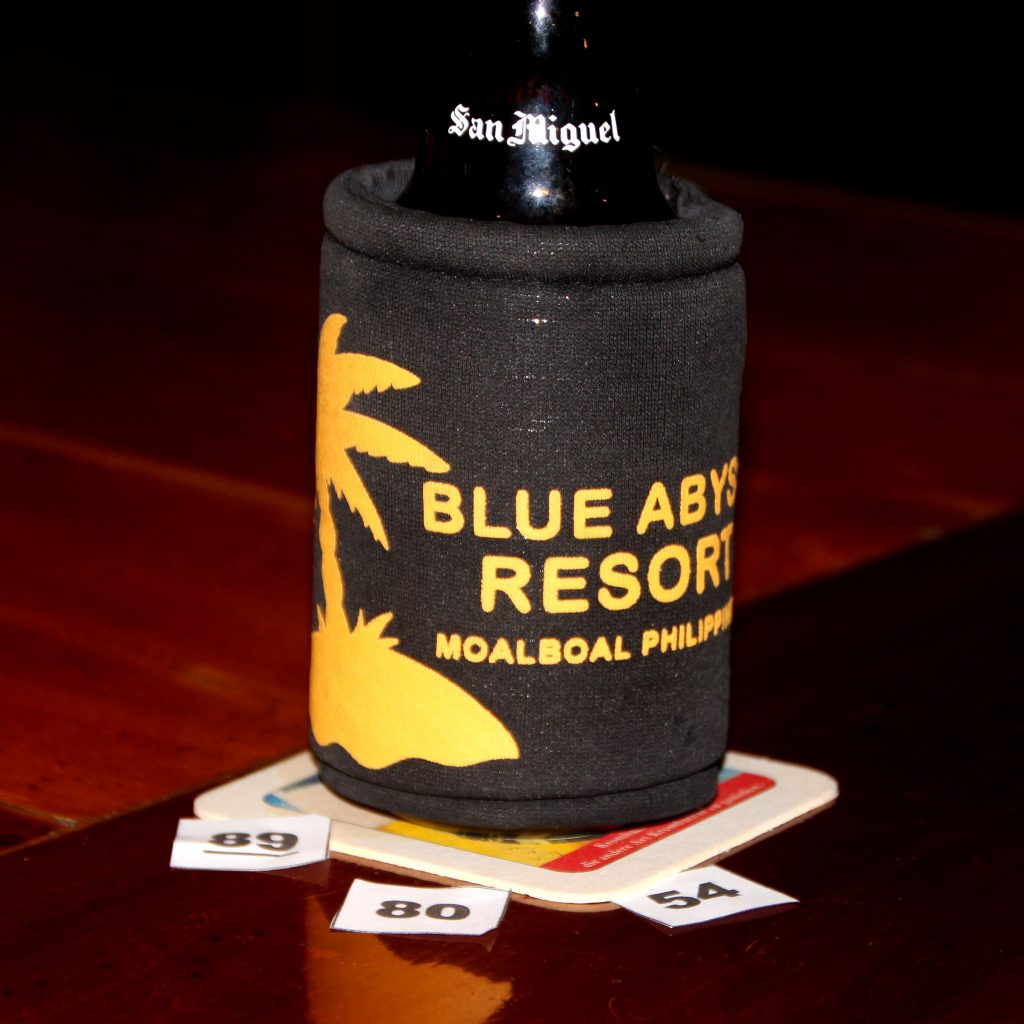 Beer raffle at blue abyss dive resort